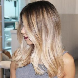 warm blonde shadow root