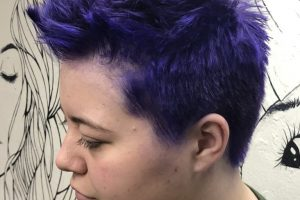 purple pixie haircut
